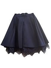 Школьная юбка с кружевом и подкладкой, фото 3