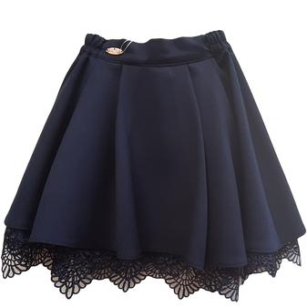 Школьная юбка с кружевом и подкладкой, фото 2