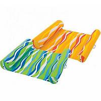 Надувной матрас Intex ламинированная ткань с подголовником, 2 цвета (58834) - цена за 1 шт., фото 1