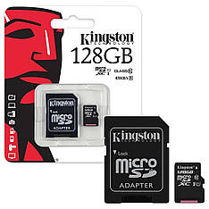 Карта памяти KINGSTON microSDXC 128GB UHS-I U1 Canvas Select (SDCS/128GB) + SD адаптер