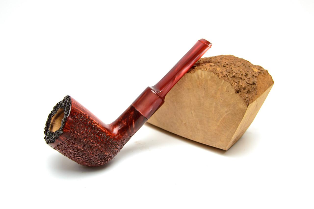 Необычная трубка для курения из бриара прямая формы Billiard рустированная