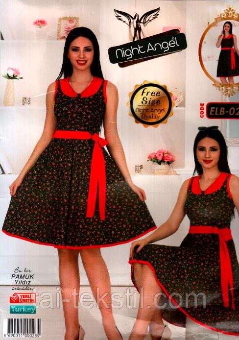 Молодежное платье свободного размера Турция (46-50р) Night Angel 028