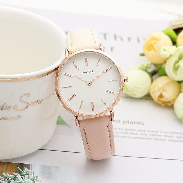 Часы женские повседневные розовые