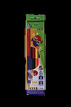 Карандаши цветные 12цв 6шт Double KIDS Line ZiBi