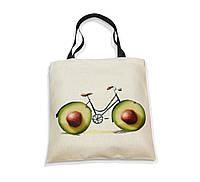 """Эко-сумка с черной ручкой """"Велик-авокадо"""", фото 1"""
