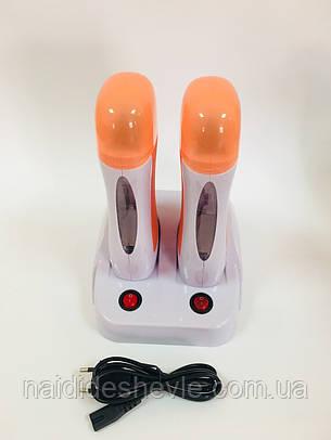 Двойной воскоплав кассетный на подставке Konsung Beauty, фото 2