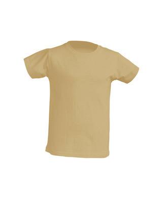 Детская футболка, бежевая, от 3 до 12 лет
