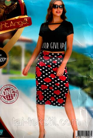 Комплект юбка и топик хлопок с лайкра Night Angel №007, фото 2