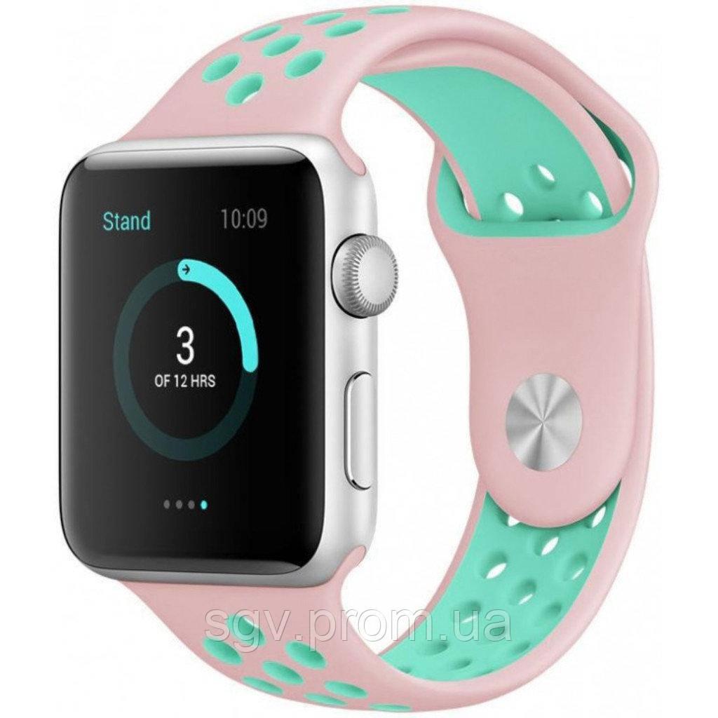 Ремешок Nike Sport Band Apple Watch  pink mint 42/44 mm
