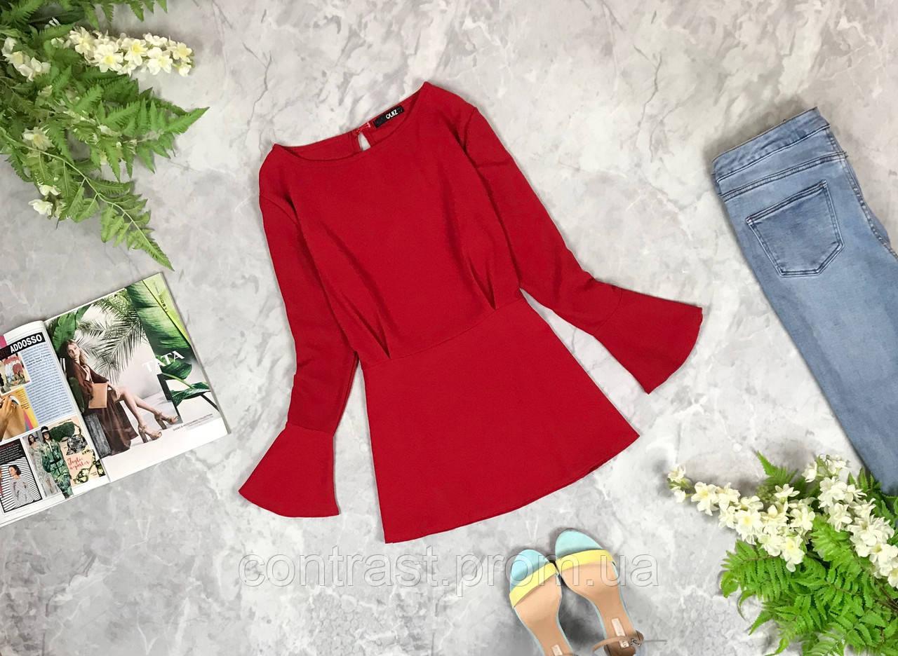 Эффектная блуза ярко красного цвета  BL1926045