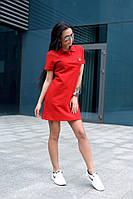 Короткое красное платье