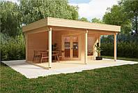 Дом деревянный из профилированного бруса 6х4. Кредитование строительства деревянных домов