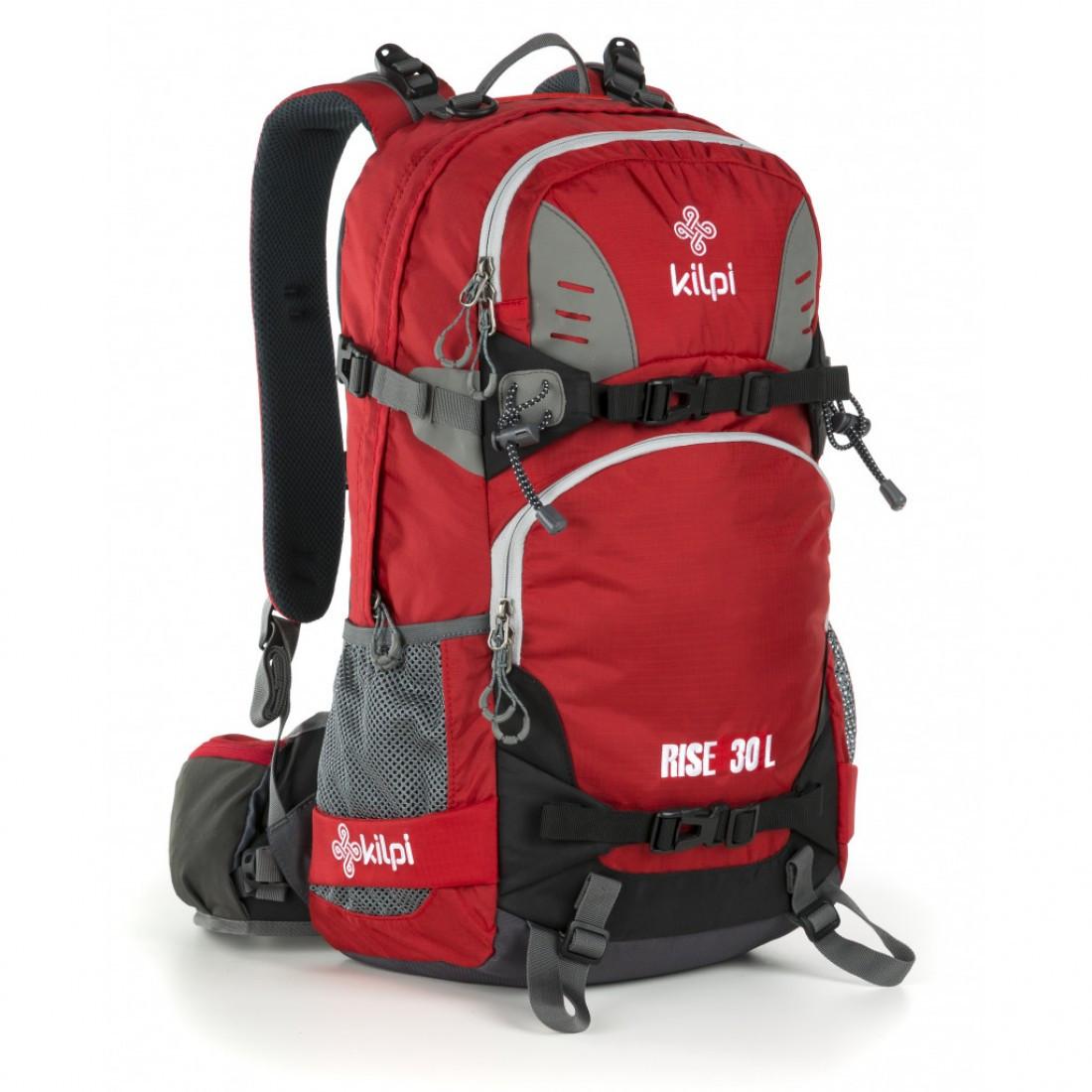 Рюкзак туристический 30-литровый Kilpi RISE-U для спорта и туризма. Цвет: красный