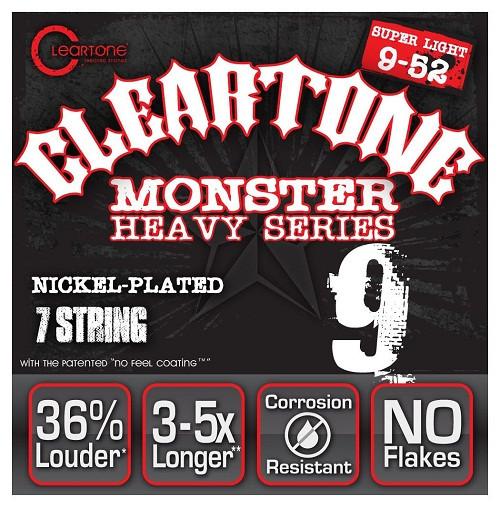Струны для 7-струнной электрогитары CLEARTONE 9409-7 ELECTRIC HEAVY SEIRES SUPER LIGHT 7 09-52
