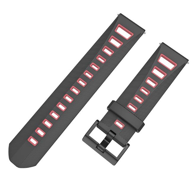 Ремешок MiJobs Sport Youth для Xiaomi AMAZFIT Bip / 20 мм Black / Pink (Черный / Розовый)