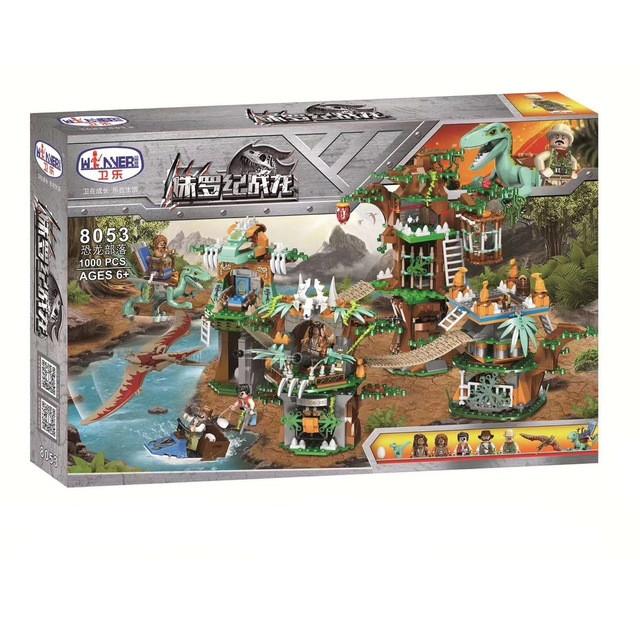 """Конструктор Winner 8053/1383 """"Племя динозавров"""" (реплика Lego Jurassic World), 1000 дет"""