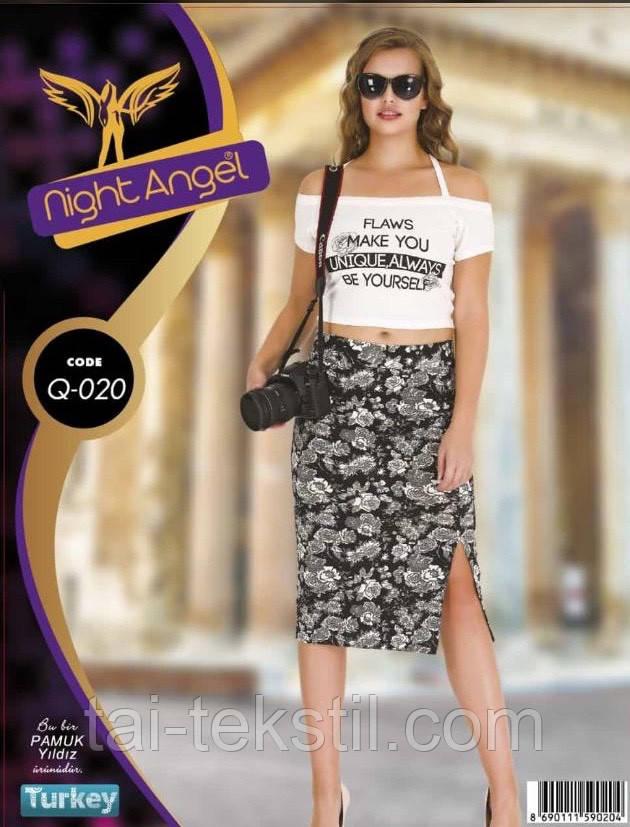 Комплект юбка и топик хлопок с лайкра Night Angel №020