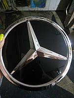 Стеклянная эмблема  на MERCEDES  18 см, фото 1