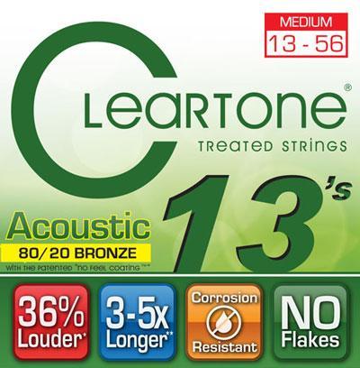 Струны для акустической гитары CLEARTONE 7613 ACOUSTIC 80/20 BRONZE MEDIUM 13-56
