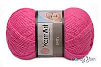 YarnArt Baby, розовый неон №174