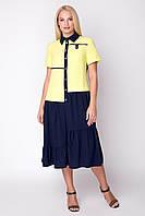 Платье большого размера Вики 52-60, красивое, фото 1