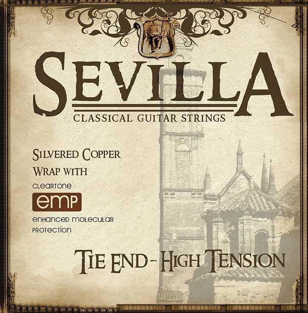Струны для классической гитары CLEARTONE 8450 SEVILLA TIE END HIGH TENSION Сильное натяжение