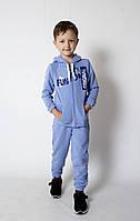 Спортивний костюм для хлопчика 1-5 років, трикотажний блакитний