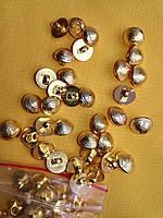 Пуговицы пластиковые  (под золото) на ножке PG234 (100шт, №18/12мм)