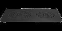 Плита чугунная печная двухконфорочная 740х440 мм (9 колец) 25 кг
