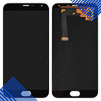 Дисплей Meizu MX5 с тачскрином в сборе, цвет черный