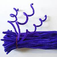 Проволока синельная (пушистая), длина 30 см, диаметр 7 мм. Фиолетовая, фото 1