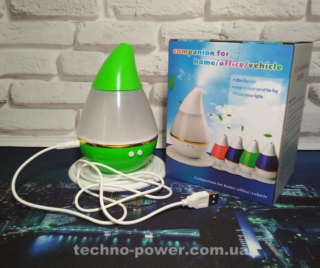 Увлажнитель воздуха 250 млультразвуковой Вулкан/Капля Green. Увлажнитель воздуха для дома с подсветкой
