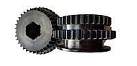 Зубчатое колесо, шестерня 2 оси 16к20, 16к20.020.441  z-34,39, фото 1