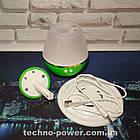 Увлажнитель воздуха 250 млультразвуковой Вулкан/Капля Зеленый. Увлажнитель воздуха для дома с подсветкой, фото 4