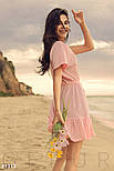 Повседневное летнее платье свободного кроя розовое, фото 2