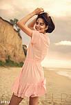 Повседневное летнее платье свободного кроя розовое, фото 3