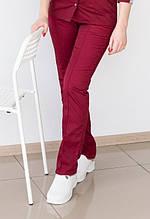 Медицинские женские брюки на резинке разных цветов 40-48