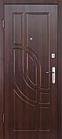 Входные металлические двери Модель М-4  ( МДФ + МДФ) орех тёмный  850*2040 левая