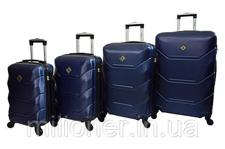 Чемодан Bonro 2019 набор 4 штуки т.синий, фото 2