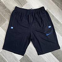 Шорты мужские хлопок полубаталы Nike, размеры 58-66, чёрные, 05639
