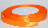 Лента атласная. Цвет - оранжевый яркий, ширина - 1см, длина - 23м