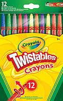 Выкручивающиеся цветные восковые мелки (12 шт), Crayola