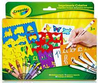 Набор для творчества Алфавит (трафареты, фломастеры, восковые мелки), Crayola