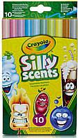 Ароматизированные тонкие смываемые фломастеры (10 шт), Silly Scents, Crayola