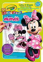 Книга-раскраска с наклейками Минни Маус (32 страницы), Mini Kids, Crayola