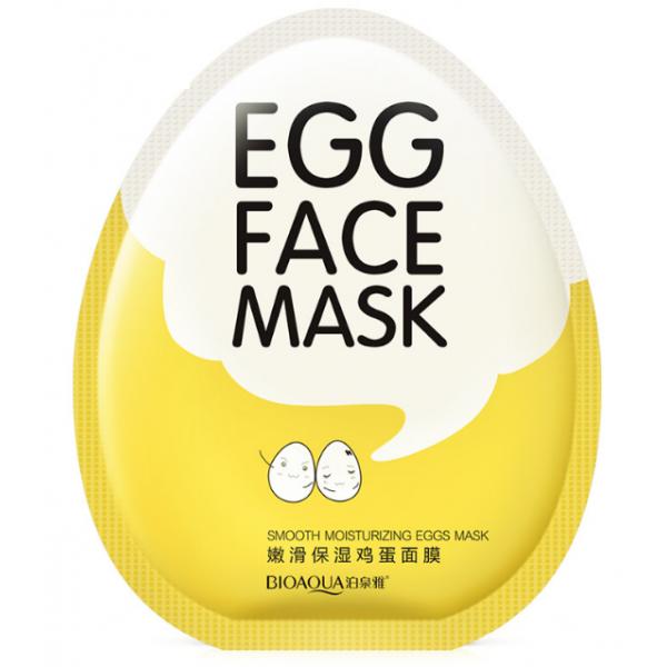Маска для лица Bioaqua Egg Face Mask яичная, тканевая успокаивающая увлажняющая 30 мл