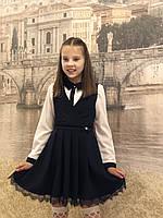 Школьныйсарафан для девочки 6-11лет,чёрного цвета