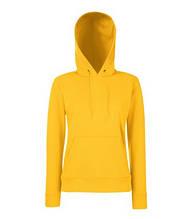 Толстовка на флисе с двойным капюшоном - 62038-34 солнечно-желтая