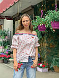 Женская стильная рубашка со спущенными плечами (в расцветках), фото 5