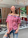 Женская стильная рубашка со спущенными плечами (в расцветках), фото 4